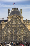 Louvre museum pyramid Royalty Free Stock Photography