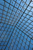 The Louvre Museum Pyramid Window Stock Image