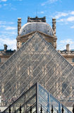 The Louvre Museum Pyramids Royalty Free Stock Photos