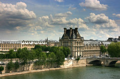 Louvre Museum seen from Orsay museum top Royalty Free Stock Images