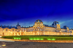 Louvre museum on September, 17, 2013. Night. Stock Images