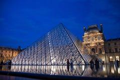 Louvre Museum at Sunset, Paris Stock Photography