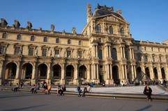 Louvre Museum at Sunset Stock Photos