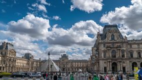 Louvre-Museum, timelapse stock video footage
