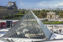 Louvre Museum and The Tuileries Garden, Paris, France Stock Photography