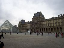 The Louvre Museum is very important worldwide stock images