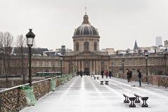 Louvre museum in winter Stock Photos