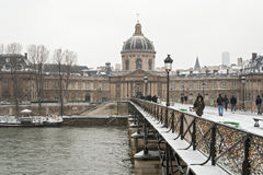 Louvre museum in winter Royalty Free Stock Images