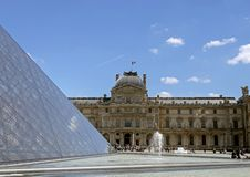 The Louvre, or the Louvre Museum, world's largest art museum and historic monument in Paris, France stock photo