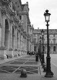 Louvre muzealny jard, Paryż, Francja fotografia stock