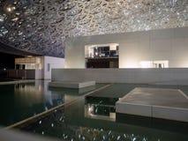 Louvre muzeum luminated w Abu Dhabi obrazy royalty free