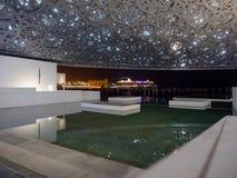 Louvre muzeum luminated w Abu Dhabi zdjęcie royalty free