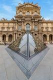 Louvre muzeum ostrosłup obrazy royalty free