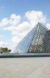 louvre muzeum ostrosłup zdjęcia royalty free
