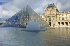Louvre Muzeum ostrosłupa Wejście Obraz Stock
