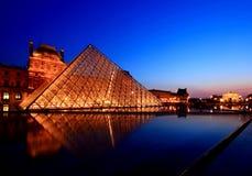 louvre muzeum Paris Obraz Royalty Free