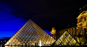 louvre muzeum Paris Obrazy Royalty Free