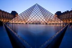 Louvre Muzeum Paryż Obraz Royalty Free