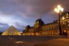 Louvre Muzeum Paryż Zdjęcie Royalty Free