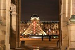 Louvre muzeum Paryż, Paryż, Francja Obraz Stock