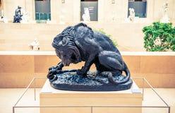 Louvre muzeum rzeźby zdjęcia stock