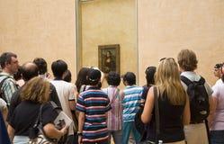 louvre muzeum turyści fotografia stock