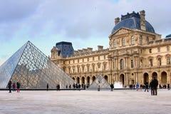 Louvre muzeum w Paris Obraz Stock