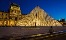 Louvre muzeum w Paryż fotografia stock