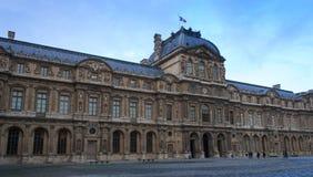 Louvre nell'inverno Fotografia Stock