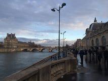 Louvre niebo Obraz Stock
