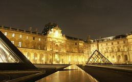 Louvre at night 1 Royalty Free Stock Photo