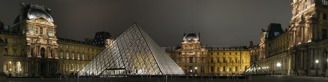 Louvre by night Stock Photography