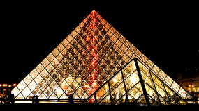 Louvre at Night Royalty Free Stock Image