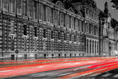 Louvre at night Royalty Free Stock Photography