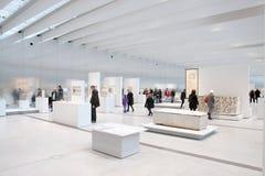 Louvre obiektywu ekspozycja obrazy royalty free