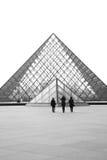 Louvre ostrosłupy zdjęcie royalty free