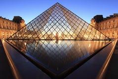 Louvre Ostrosłup Fotografia Royalty Free