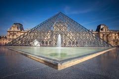 Louvre ostrosłup Obraz Royalty Free