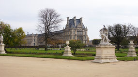 Louvre Palace and autumn park Royalty Free Stock Photos