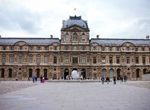 The Louvre Palace Museum in Paris, France, June 25, 2013 royalty free stock photography