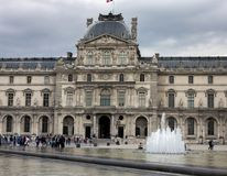 The Louvre Palace Museum in Paris, France, June 25, 2013 royalty free stock photos