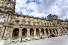 Louvre palace outside view Royalty Free Stock Images