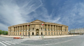 The Louvre Palace (panoramic view). Paris, France Royalty Free Stock Photography