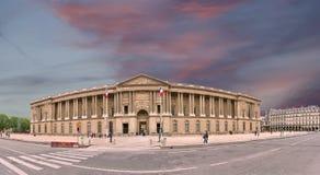 The Louvre Palace (panoramic view). Paris, France Stock Photo