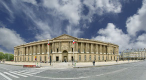The Louvre Palace (panoramic view). Paris, France Stock Photography