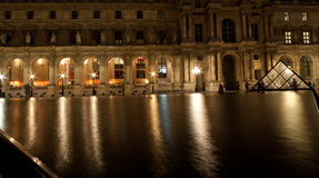 The Louvre Palace and the Pyramid, France Stock Images