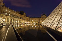 The Louvre Palace and the Pyramid, France Stock Photo