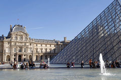 Louvre Palace and Pyramid Stock Photography