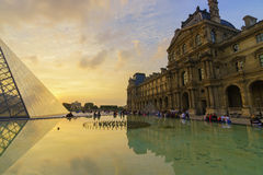 The Louvre Palace and the Pyramid Royalty Free Stock Image