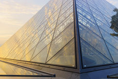 The Louvre Palace and the Pyramid Stock Photos